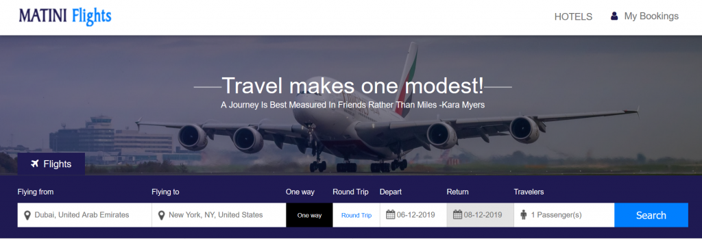 matini flights search engine - How to use matini flights to find cheap flights.